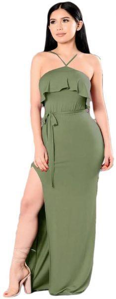 فستان زيتي جورجيت سهرة