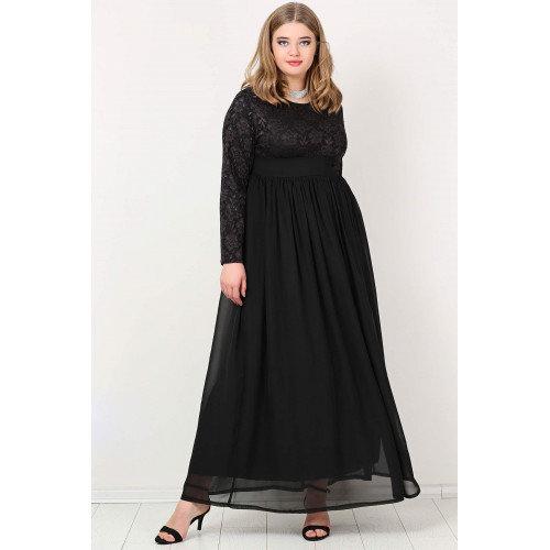فستان سهرة شيفون أسود
