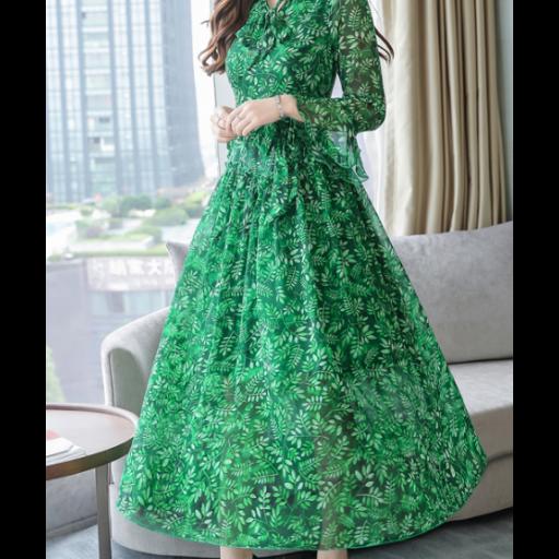 فستان شيفون مشجر