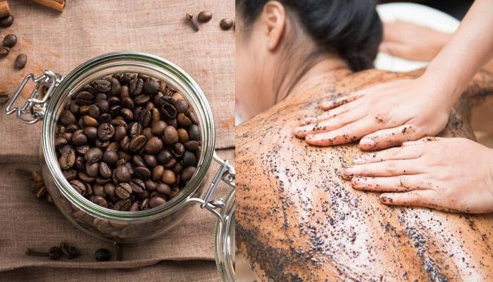 تقشير البشرة بالقهوة