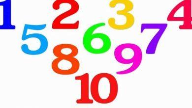 صورة الأرقام في المنام