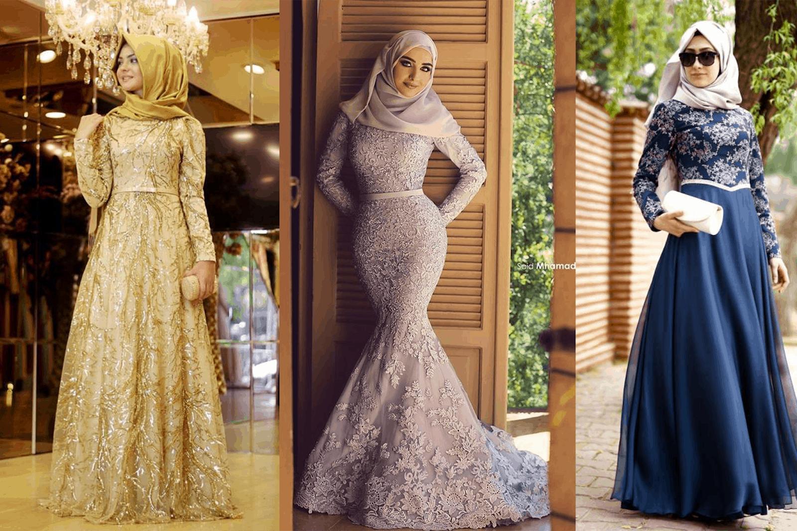 الفساتين سهرة 2020 للمحجبات