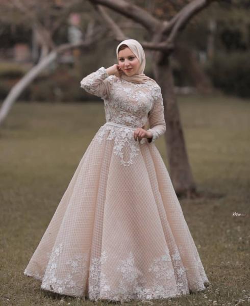 الفساتين سهرة للمحجبات 2021