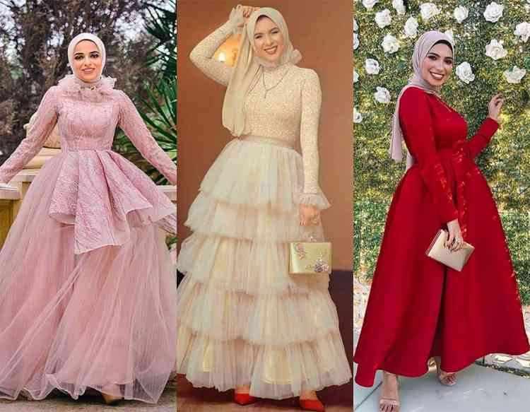 الفساتين سهرة للمحجبات 2020
