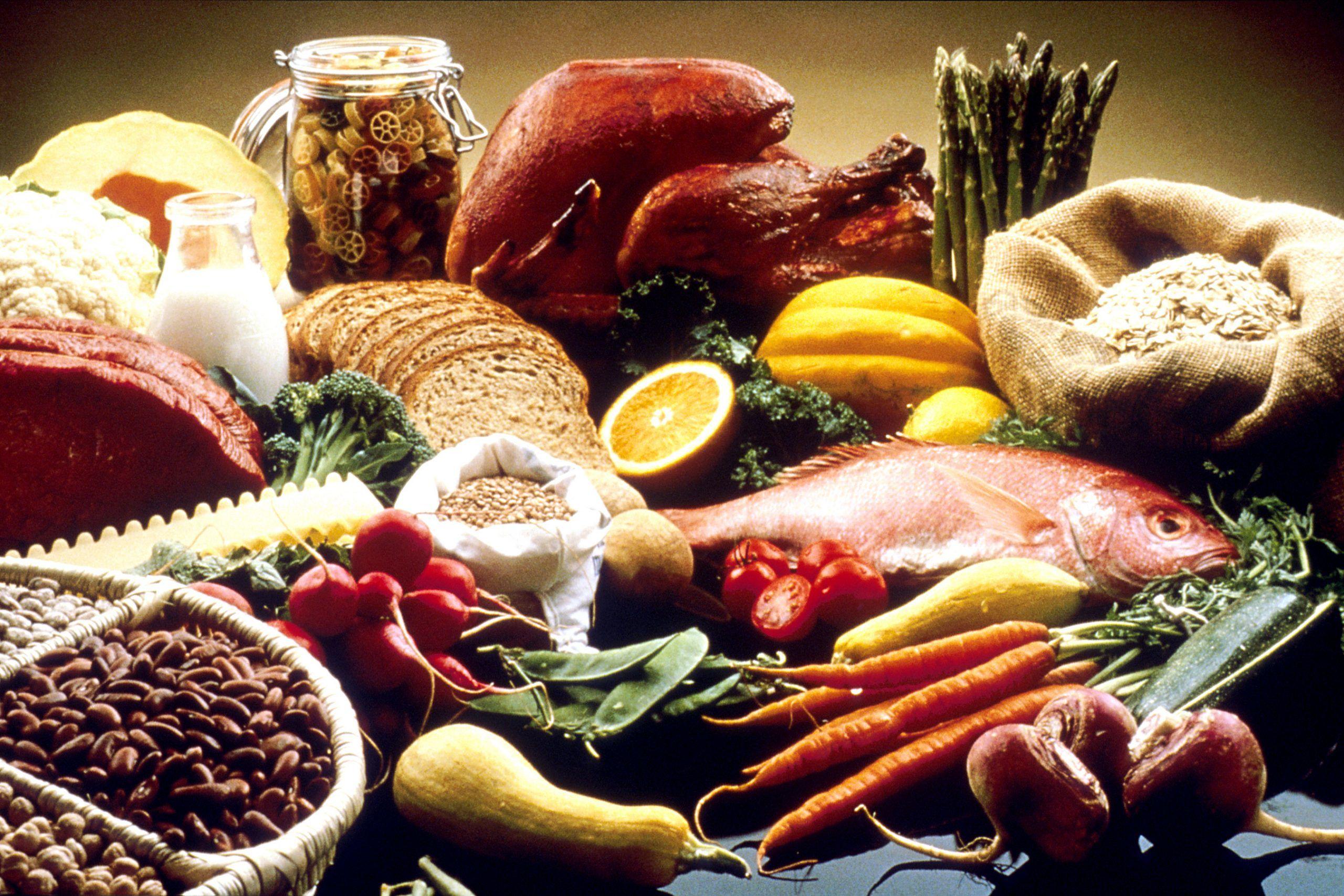 امثلة على الأطعمة