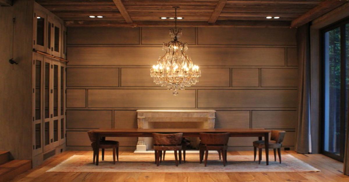 ديكور الحائط خشبي