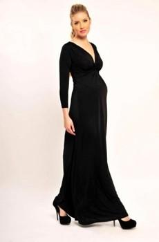 فستان الأسود المخملي الرائع حوامل