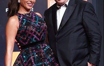 صورة أشرف زكى وروجينا في اليوم الثاني لمهرجان الجونة السينمائي 2020