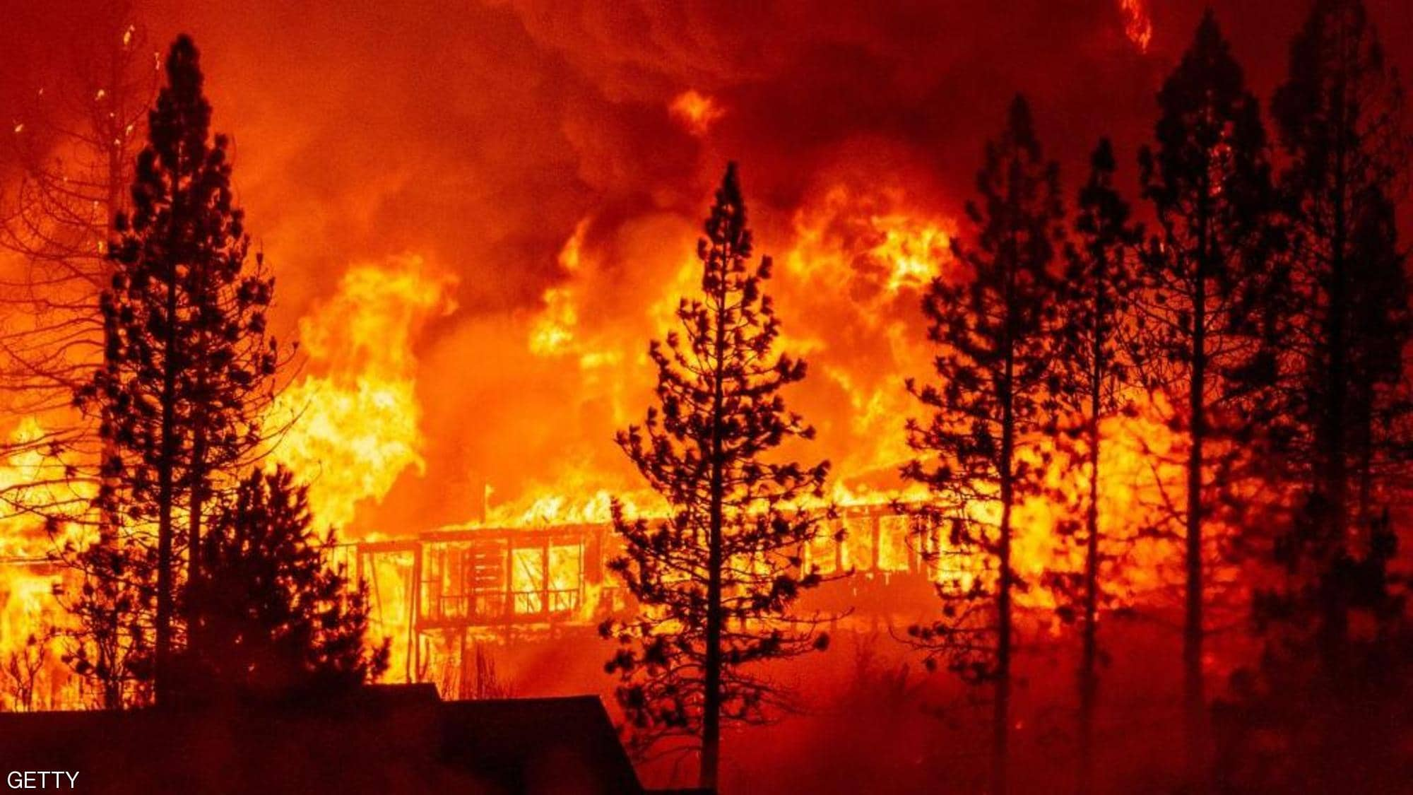 حريق تنومة