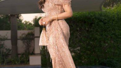 صورة فستان لجين عمران في افتتاح مهرجان الجونة السينمائي 2020