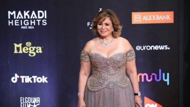 صورة فستان إلهام شاهين في افتتاح مهرجان الجونة السينمائي 2020