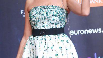 صورة فستان بشرى في اليوم الثاني لمهرجان الجونة السينمائي 2020