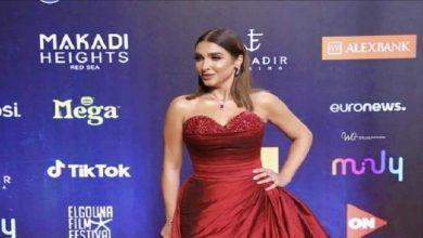صورة فستان روجينا في اليوم الثاني لمهرجان الجونة السينمائي 2020