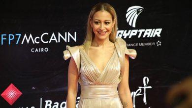 صورة فستان منه شلبي في اليوم الثاني لمهرجان الجونة السينمائي 2020