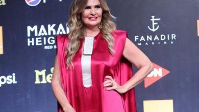 صورة فستان يسرا في افتتاح مهرجان الجونة السينمائي 2020